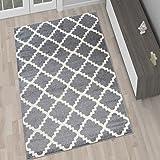 amazon.de: teppich wohnzimmer grau silber 80 x 150 cm designer ... - Wohnzimmer Grau Silber