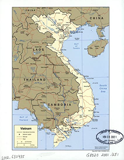 Amazon.com: Map Poster - Vietnam. - 24\