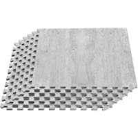 We Sell Mats Forest Floor Farmhouse Collection 3/8 Inch Thick Printed Wood Grain Mats, 24 in x 24 in