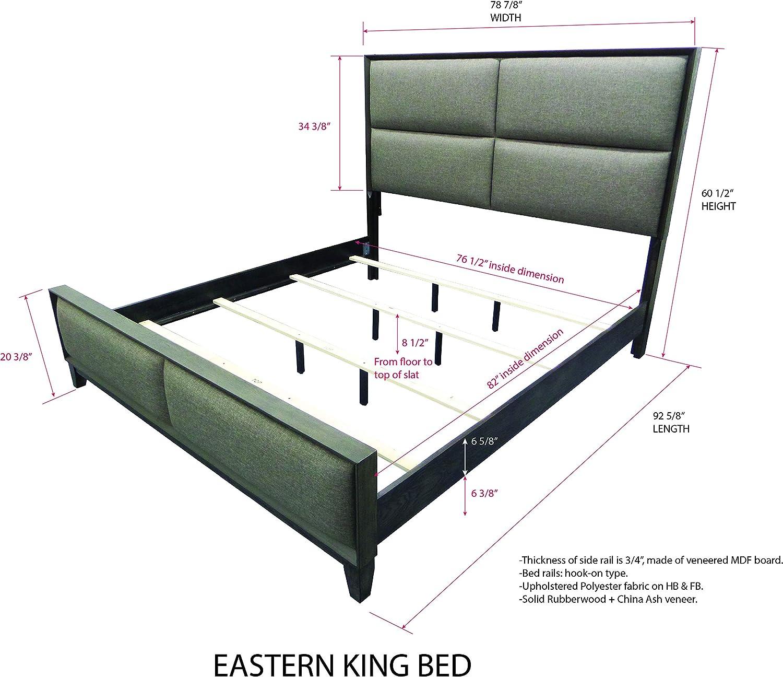 Amazon Com Kings Brand Furniture Sheldon 6 Piece King Size Gray Bedroom Set Bed Dresser Mirror Chest 2 Nightstands Furniture Decor