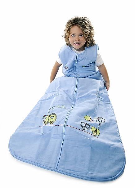 Saco de dormir de verano para niños - Tren de - disponible en 5 tamaños 110 cm: Amazon.es: Bebé