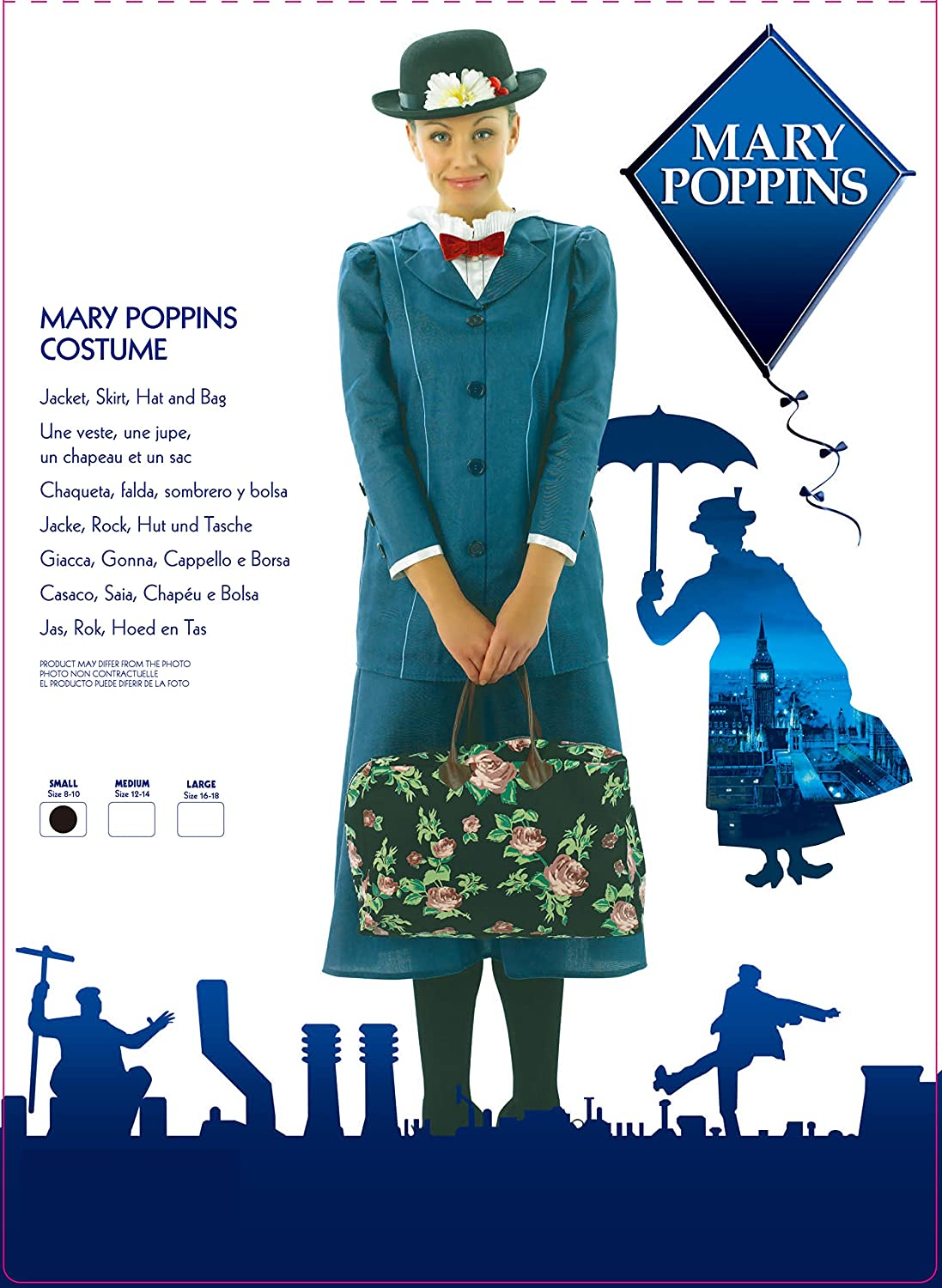 RubieS Disfraz Chica Mary Poppins de Disney, para Adulto, Talla ...