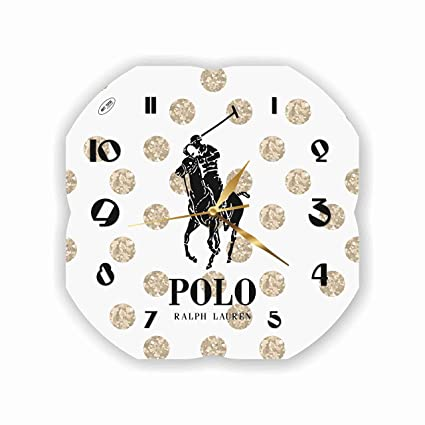 Amazon.com: VMA Wood Exclusive Clock Polo Ralph Lauren ...