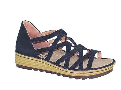 52c738b74470 NAOT Women s Yarrow Sandal Black Velvet Nubuck Size 36 EU (5.5-6 M US