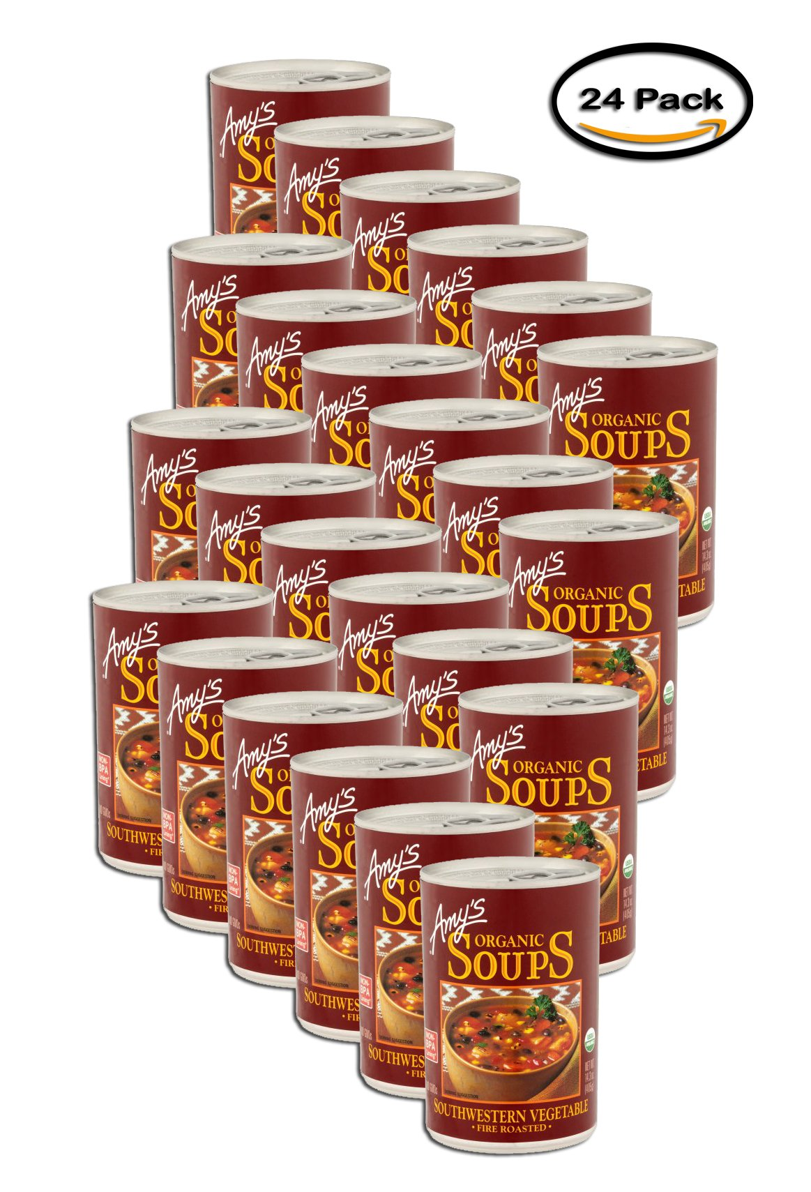 PACK OF 24 - Amy's Organic Soups Southwestern Vegetable Fire Roasted, 14.3 OZ