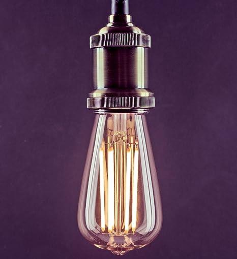 Tagra® Vintage Edison LED Filament Amber ST64 Squirrel Cage Bulb - 8W / 80W E27 & Tagra® Vintage Edison LED Filament Amber ST64 Squirrel Cage Bulb ...