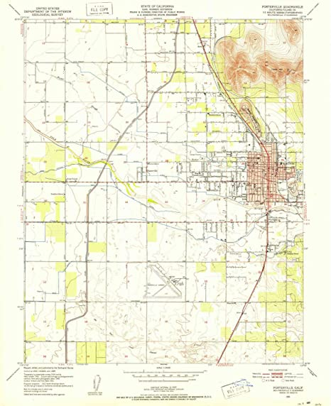 Amazon.com : YellowMaps Porterville CA topo map, 1:24000 ...