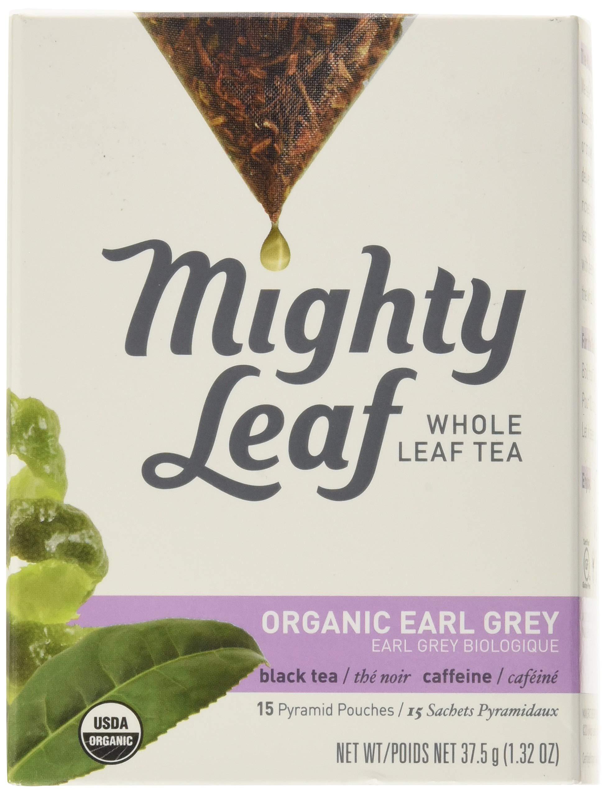 Mighty Leaf Tea Organic Tea, Earl Grey, Whole Leaf Pouches, 15 ct