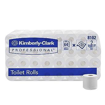 KIMBERLY-CLARK PROFESSIONAL* Rollos de Papel Higiénico 8102 - 64 rollos x 250 servicios