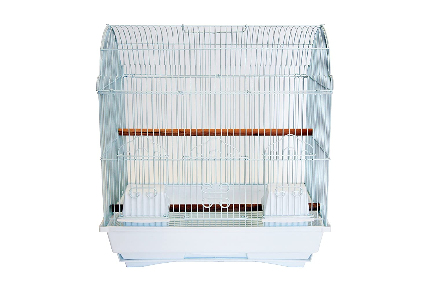 YML A1784 Bar Spacing Barn Top Bird Cage, Black A1784BLK