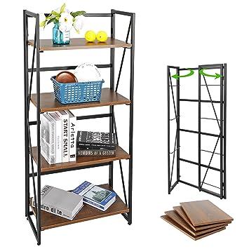 Amazon.com: Estante de escalera de 4 niveles para libros ...