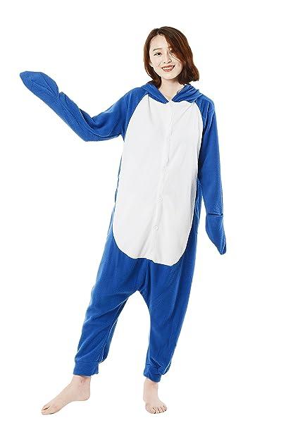 Cosplay Animales Pijamas Mujer Invierno Novedad Navidad Traje Disfraz Adulto Tiburón
