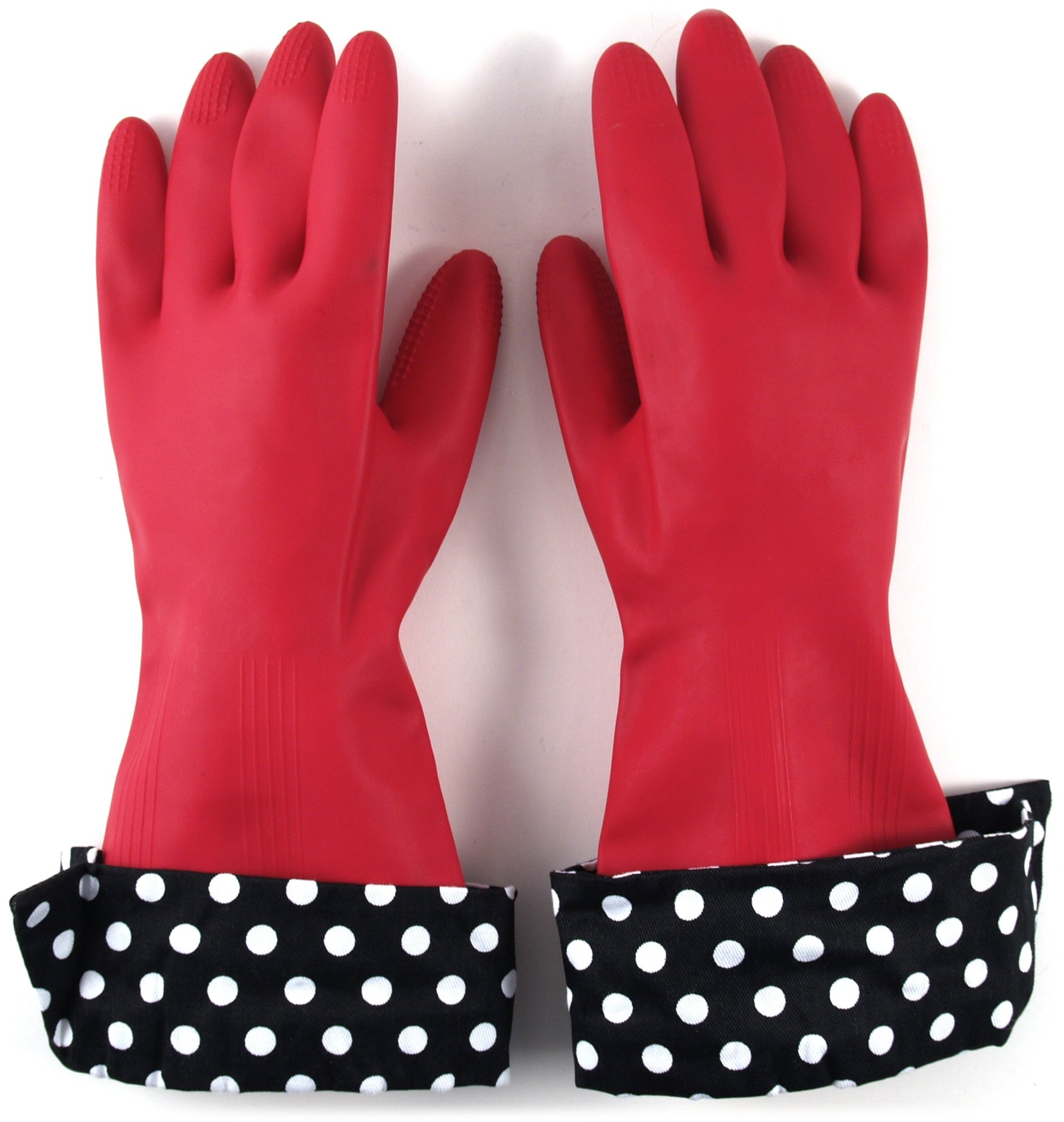 The Accidental Housewife Julie's Signature Latex Gloves with Designer Cuffs, 2 Pairs