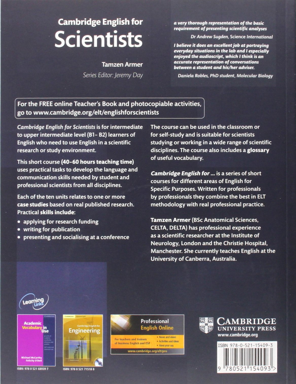 Cambridge English for Scientists Student's Book with Audio CDs (2) (Cambridge Professional English) by Cambridge University Press