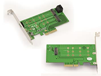 PCIe x4 para 1 x M2 NGFF SSD (PCIe) + 2 x M2 NGFF (SATA ...