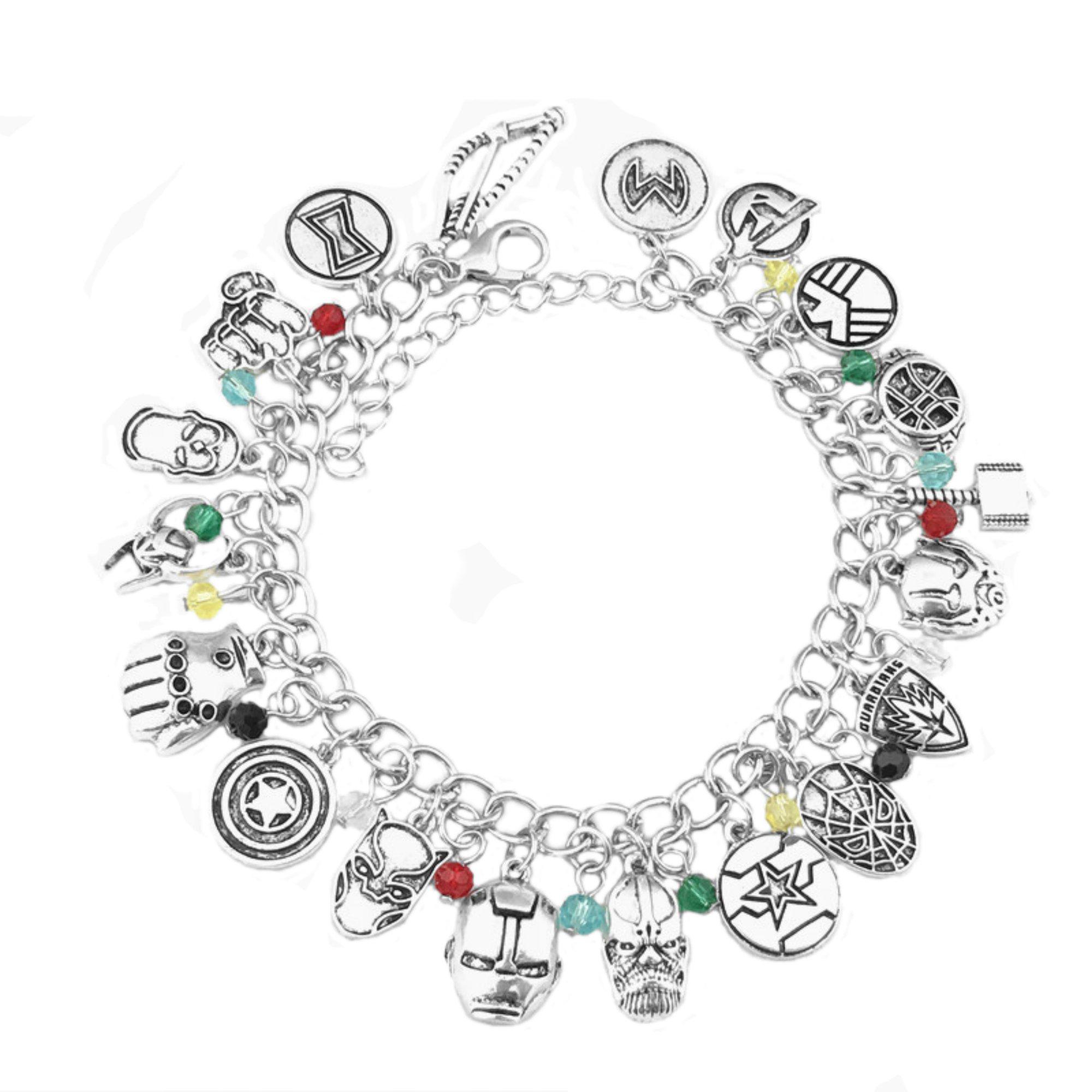 Infinity War Charm Bracelet Marvel Comics 2018 Movies Cartoons Superhero Logo Theme Premium Quality Detailed Cosplay Jewelry Gift Series by Superheroes Brand