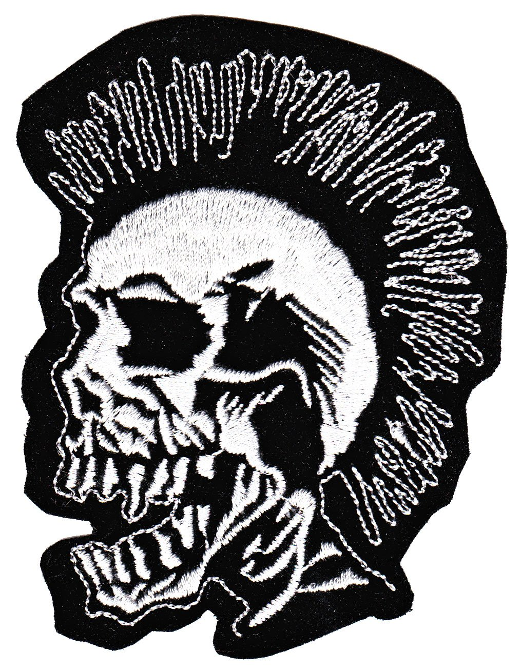 BeeSpring Punk Skull Exploited Sew-on Iron-on Patches Embroidered Applique Badge