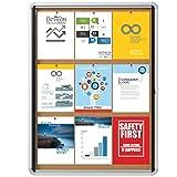 "Quartet Enclosed Cork Bulletin Board, 30"" x 39"" or"