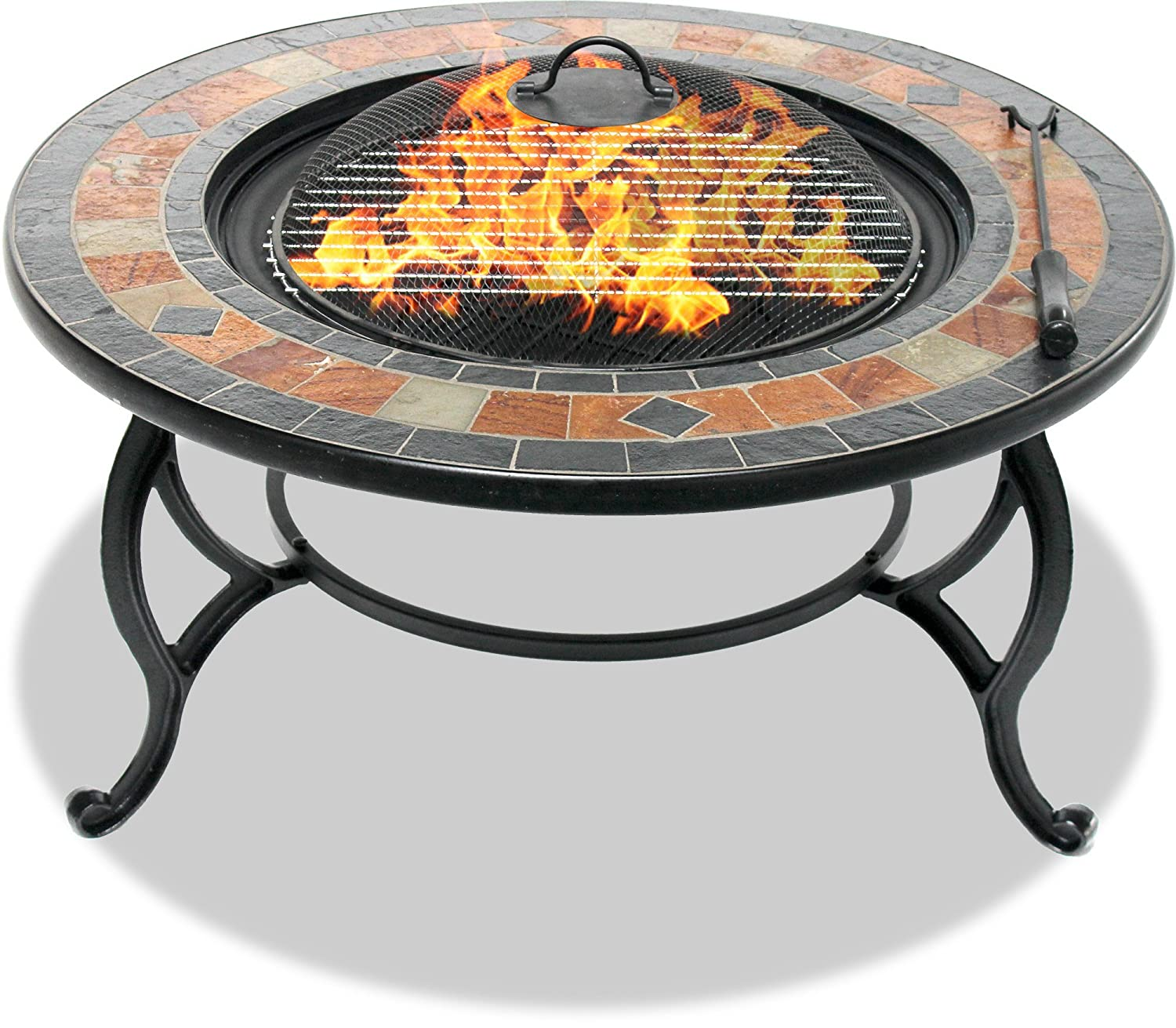 Renewed Barbecue and Ice Bucket with Slate Tiles Centurion Supports Fireology LANIAKA Lavish Garden /& Patio Heater Fire Pit Brazier Coffee Table