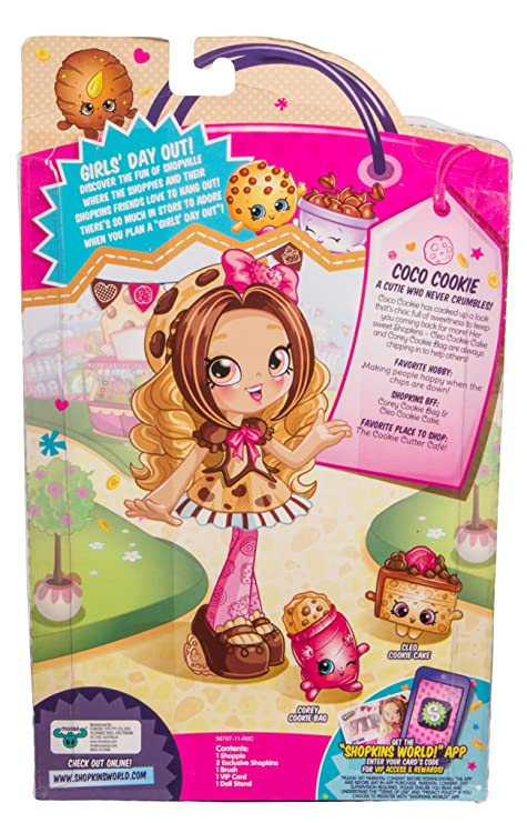 Shopkins Shoppies Doll Single Pack - Coco Cookie: Amazon in