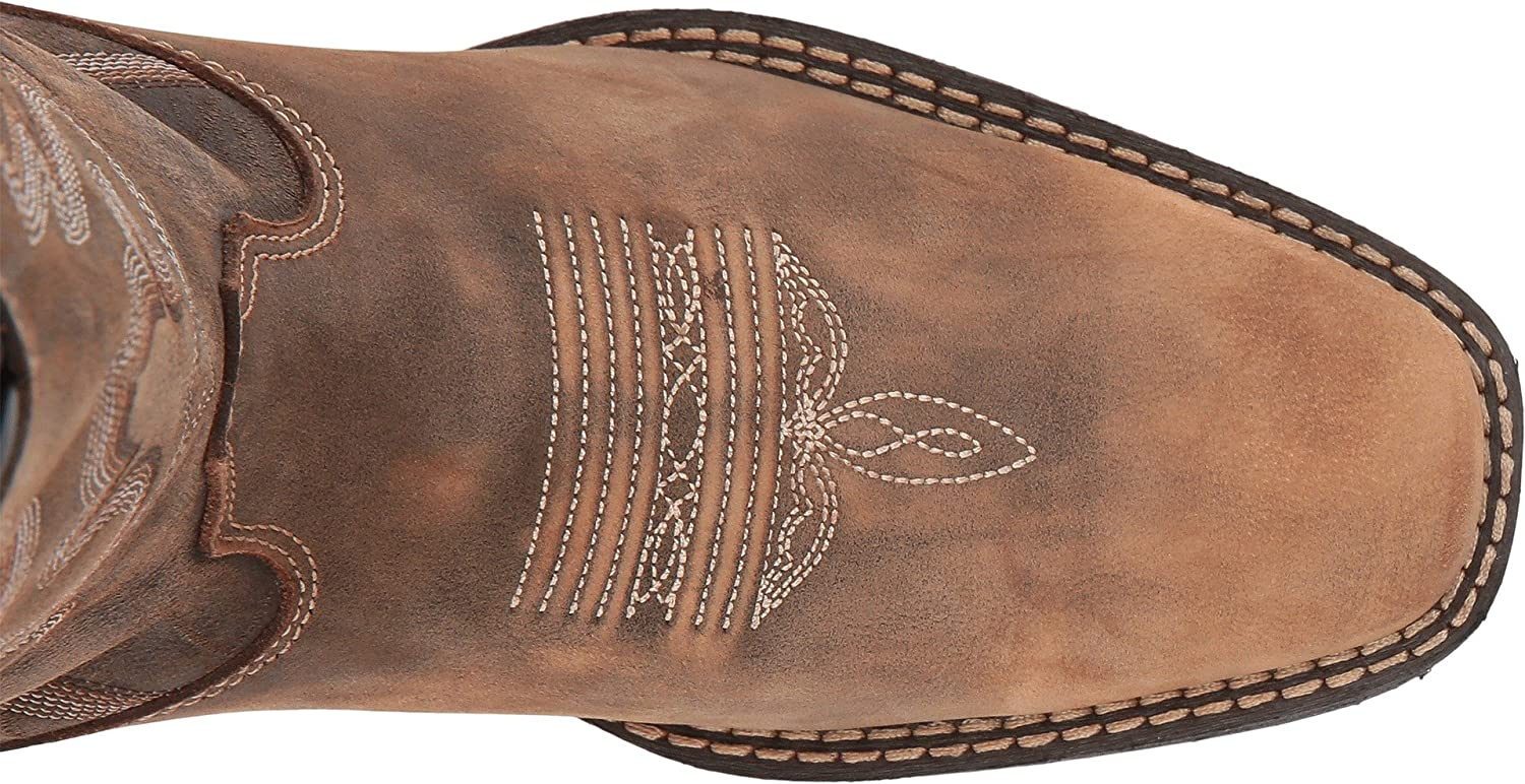 Durango Women's Dream Catcher Teal Western Boots B079R45F6P 6.5 B(M) US|Distressed Brown and Tan