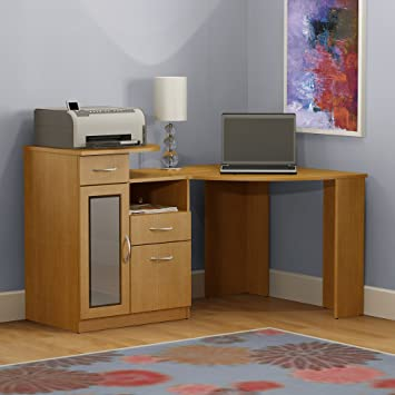 Amazoncom Vantage Corner Desk in Maple KitchenDining
