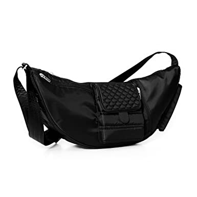 Amazon.com | Lug Boomerang Sling Bag, Midnight Black, One Size ...