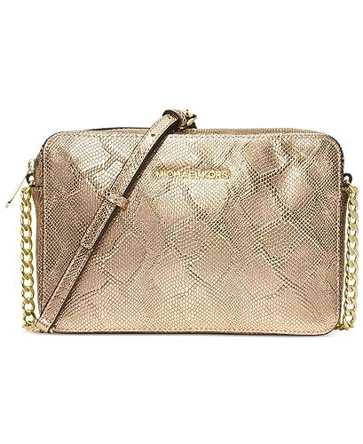 f1717d612e85 MICHAEL Michael Kors Womens Jet Set Travel Large Crossbody (Pale Gold)   Handbags  Amazon.com
