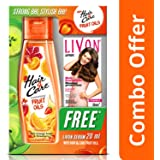 Hair & Care Fruit Oils with Orange Anaar and Strawberry, 200ml with Free Livon Serum, 20ml (Worth Rupees 60)