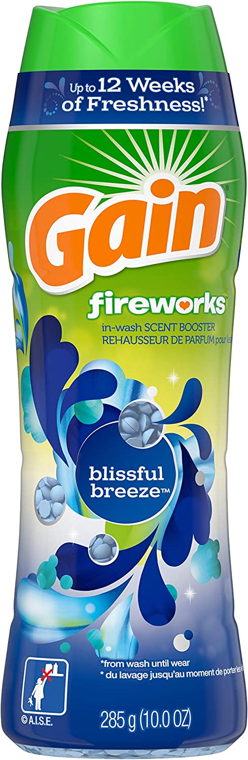 GAIN Fireworks in-wash Scent Booster Beads, Blissful Breeze, 10 Ounce, 4 Count