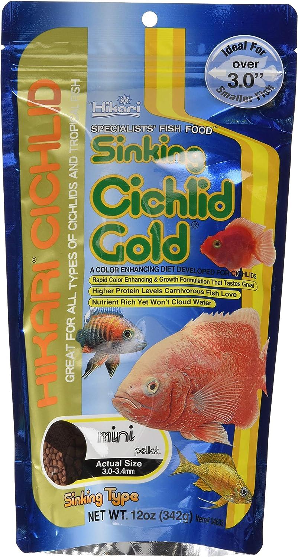 Hikari Sinking Cichlid Gold Fish Food, Mini Pellets