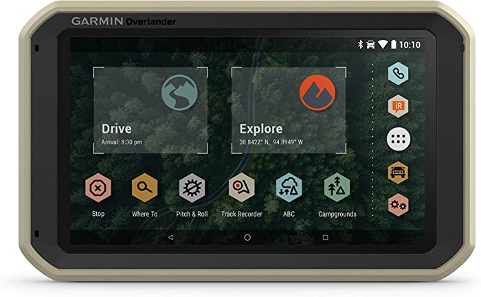 Garmin Overlander, Rugged Multipurpose Navigator for Off-Grid Guidance