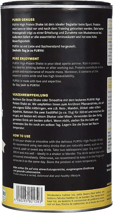 Purya High Protein Drink Sabor Vainilla - 550 gr