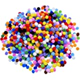 Outus Pompoms for Craft Making and Hobby Supplies 0.4 Inch, 1000 Pieces, Assorted Colors