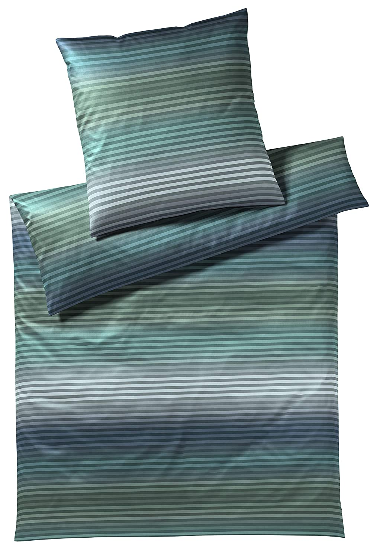 Elegante Mako-Jersey-Bettwäsche Shades 3508 (Petrol-grün, 135x200-80x80)