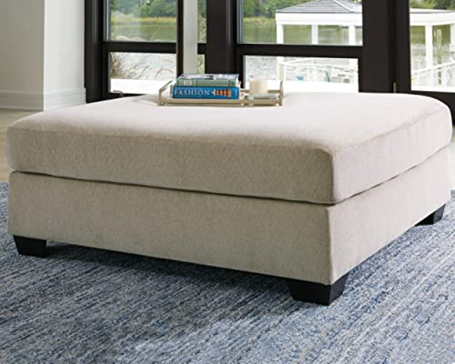 Signature Design by Ashley – Enola Oversized Ottoman, Light Beige