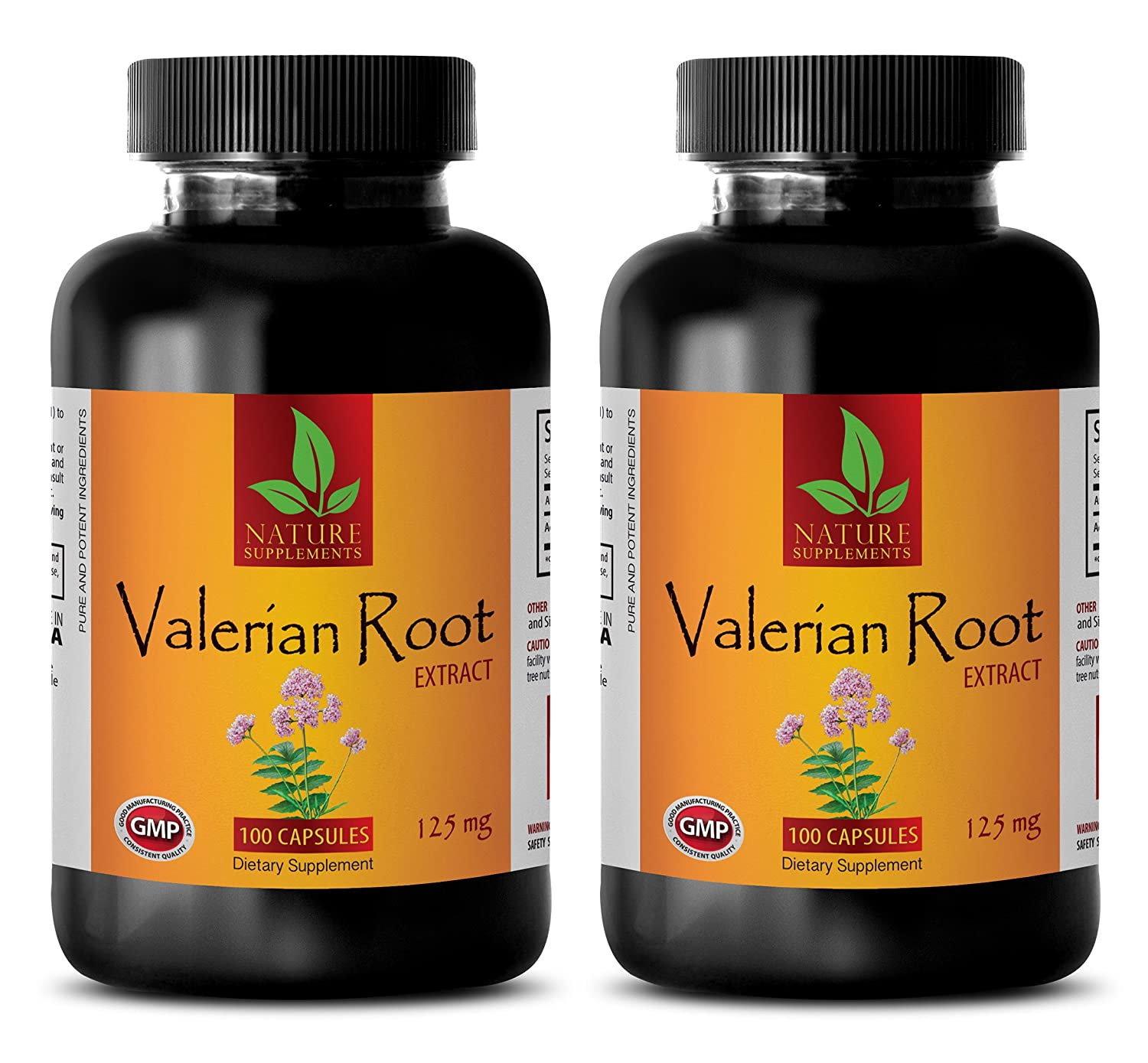 Amazon.com: sleeping aid melatonin - VALERIAN ROOT EXTRACT 125 MG - DIETARY SUPPLEMENT - valerian root anxiety - 2 Bottles (200 Capsules): Health & Personal ...