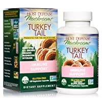 Host Defense, Turkey Tail, 120 Capsules, Natural Immune System and Digestive Support...