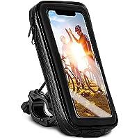 moex Fietstelefoonhouder compatibel met Sony Xperia 10 III - stuurtas met kijkvenster, kantel- en draaibaar, stuurhouder…