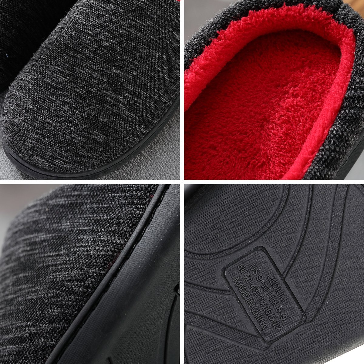 Cozy Spa House Indoor Slippers for Men Warm Lining Clog Furry Slippers by Harrms (Image #7)