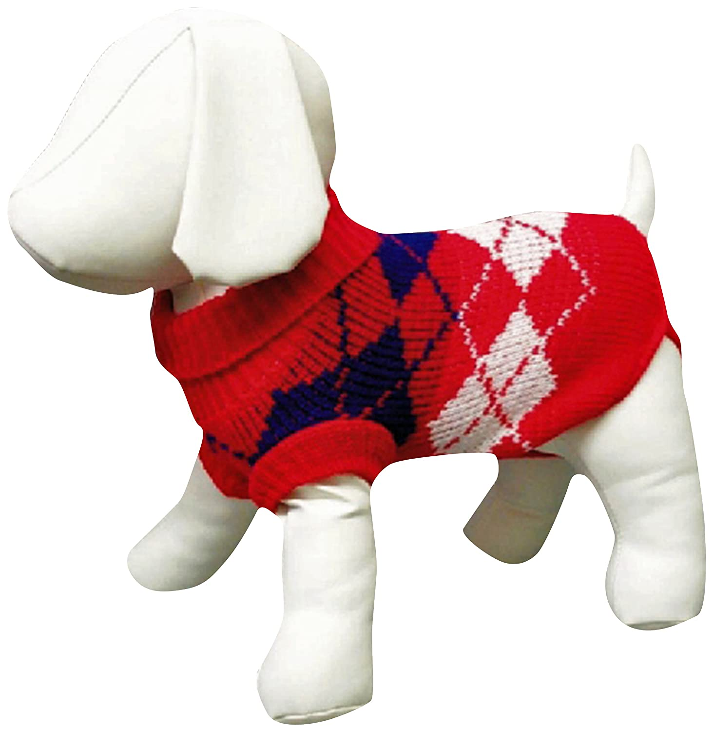 Amazing Pet Products Dog Sweater, 14-Inch, Red