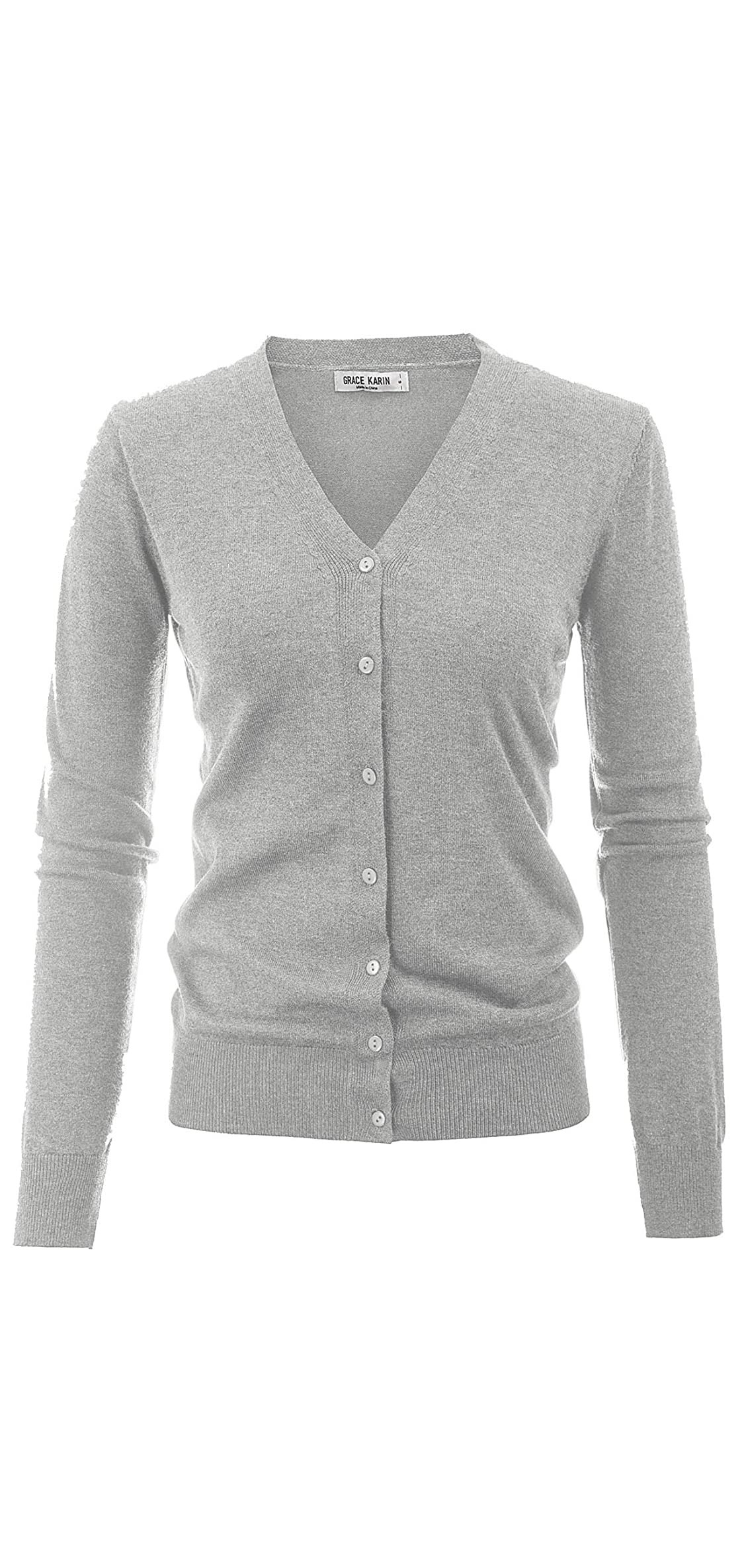Women's Long Sleeve Button Down Sweater Classic Knit