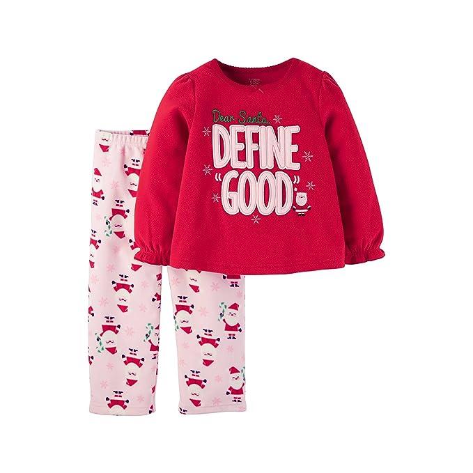 811994ff8493 Amazon.com  Toddler Girls Fleece Pajama Set - 18 Month - Dear Santa ...