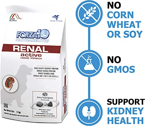 Forza10 Dry Dog Food for Kidney Renal Care – Specially Formulated Adult Dog Food for Large, Medium, Small Breeds, 8.8 Pounds