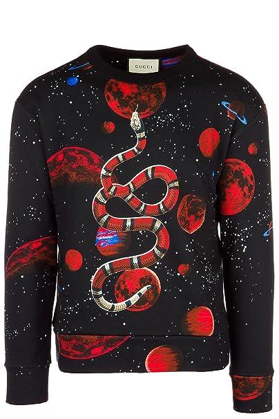 Gucci Felpa Uomo Originale Nero  Amazon.it  Abbigliamento b3c89a41909