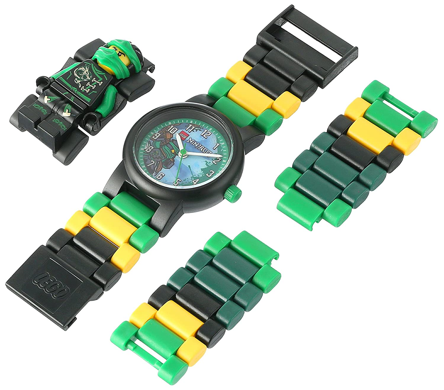 LEGO Watches and Clocks Boy's 'Ninjago Sky Pirates' Quartz Plastic Casual WatchMulti Color (Model: 8020554)