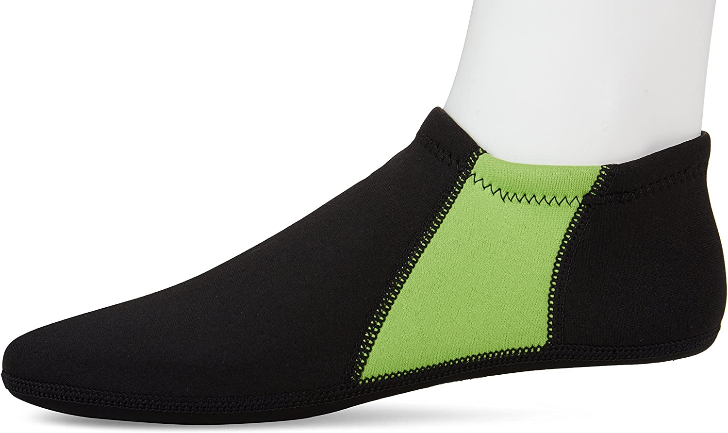 NuFoot Booties Men's Shoes, Best Foldable & Flexible Footwear, Fold and Go Travel Shoes, Yoga Socks, Indoor Shoes, Slippers, Black with Green Stripes, Extra Large