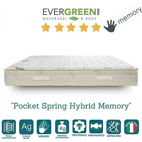 EvergreenWeb – Colchón muelles independientes y Memory Mod. Pocket Spring Hybrid Memory Alto 23 cm
