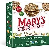 Mary's Organic Crackers Basil and Garlic, 155g