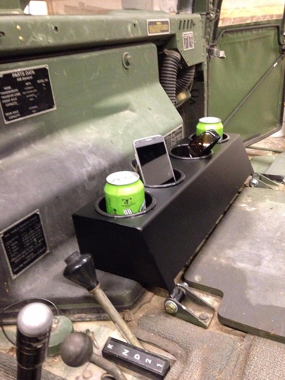 M998 HUMVEE HMMWV Cup Holders Powder Coated Flat Black, Cup
